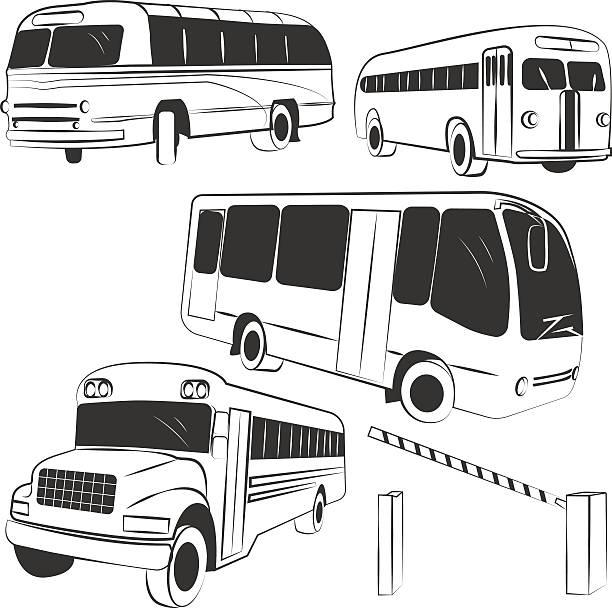 vector de bus - ilustración de arte vectorial