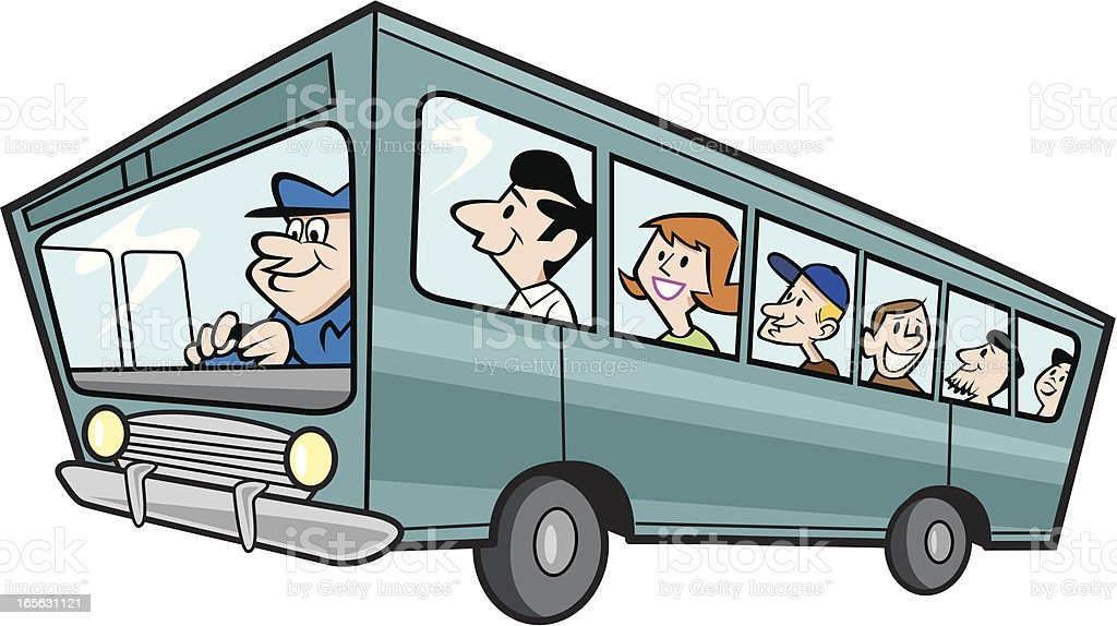 Bus with Passengers royalty-free bus with passengers stock vector art & more images of bus
