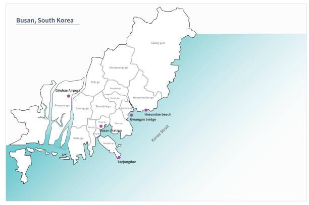 Of korea map busan south Subway: Busan
