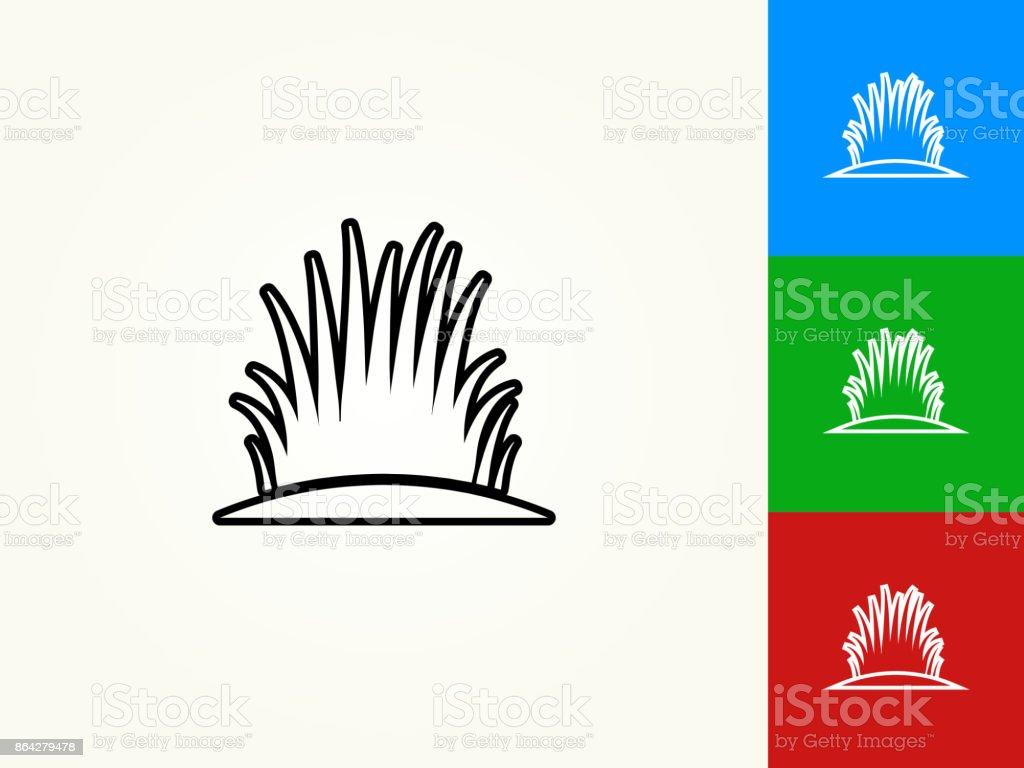 Bush Black Stroke Linear Icon royalty-free bush black stroke linear icon stock vector art & more images of black color