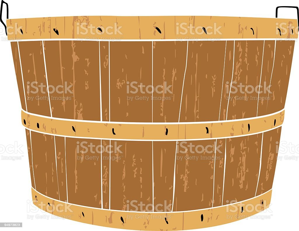 Bushel Basket royalty-free stock vector art
