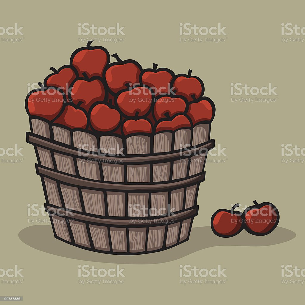 Bushel of apples royalty-free stock vector art