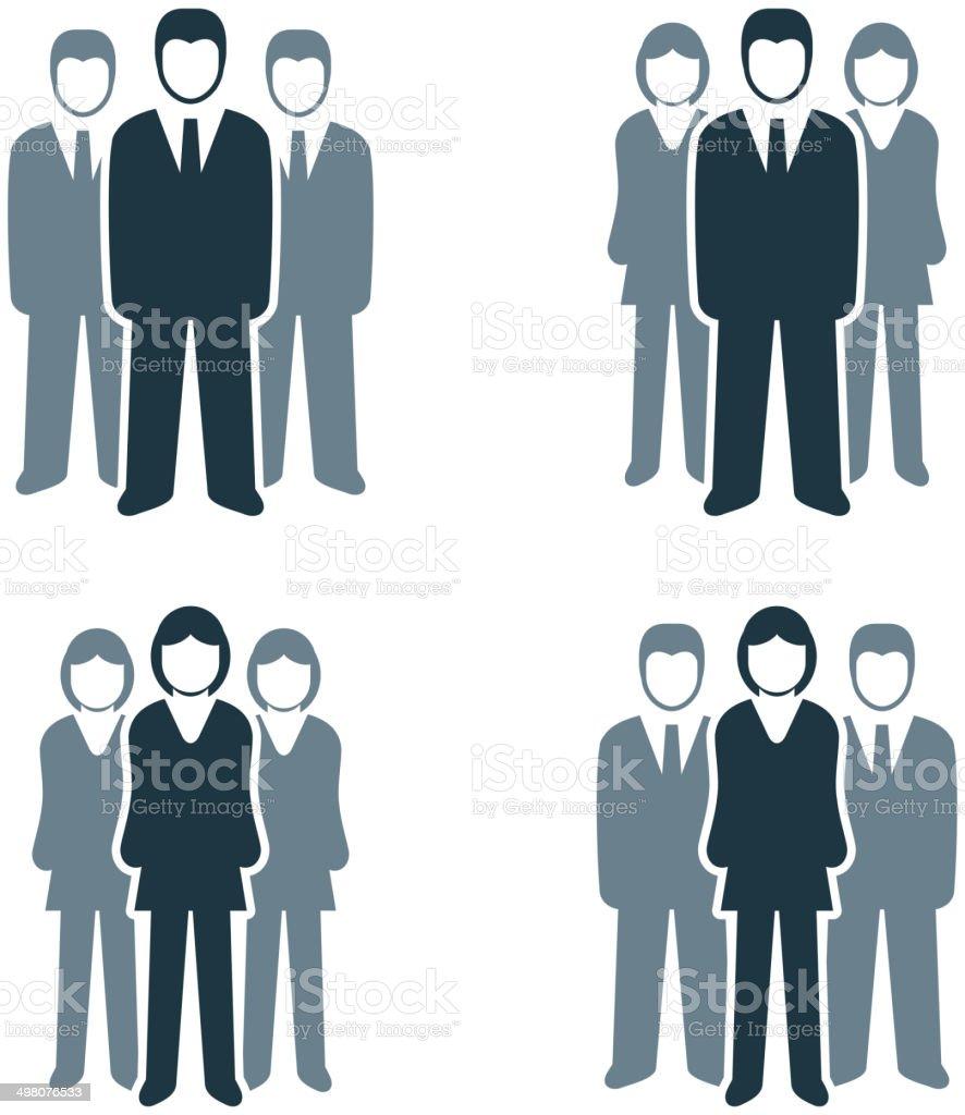 Busines People Group vector art illustration