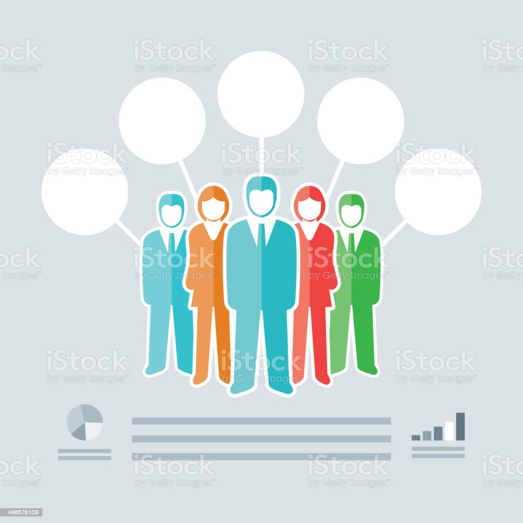 Busines People Infographics vector art illustration