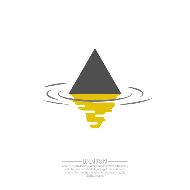 Business Abstract triangle  icon Business Abstract triangle  icon. Corporate, Media, transportation, delivery, Technology styles vector  design template. rippled stock illustrations