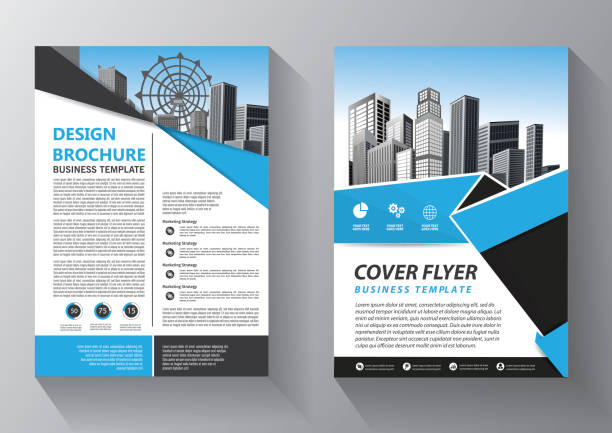 business abstract vector template. brochure design, cover modern layout, annual report, poster, flyer in a4 with colorful triangles, geometric shapes for tech, science, market with light background - flyers templates stock illustrations