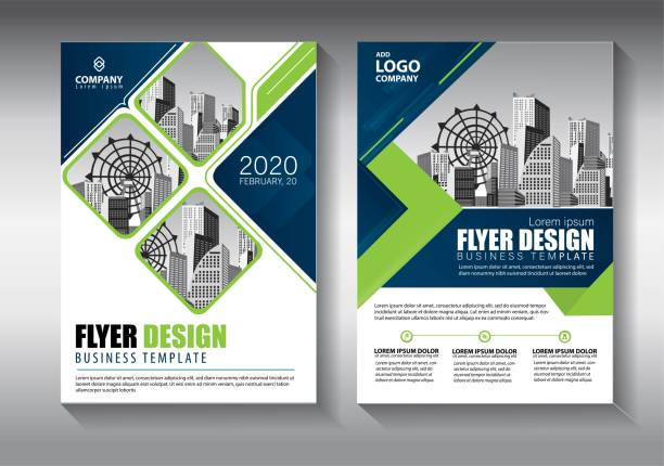 business abstract vector template. brochure design, cover modern layout, annual report, poster, flyer in a4 with colorful triangles, geometric shapes for tech, science, market with light background - annual reports templates stock illustrations