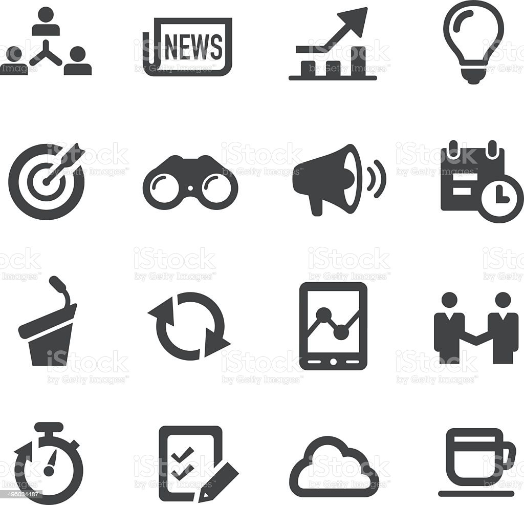 Business Affairs Icons Set  |  Acme Series vector art illustration