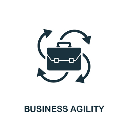 Business Agility Vector Icon Symbol Creative Sign From ...