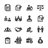 Business Agreement and Cooperation Icons - Acme Series