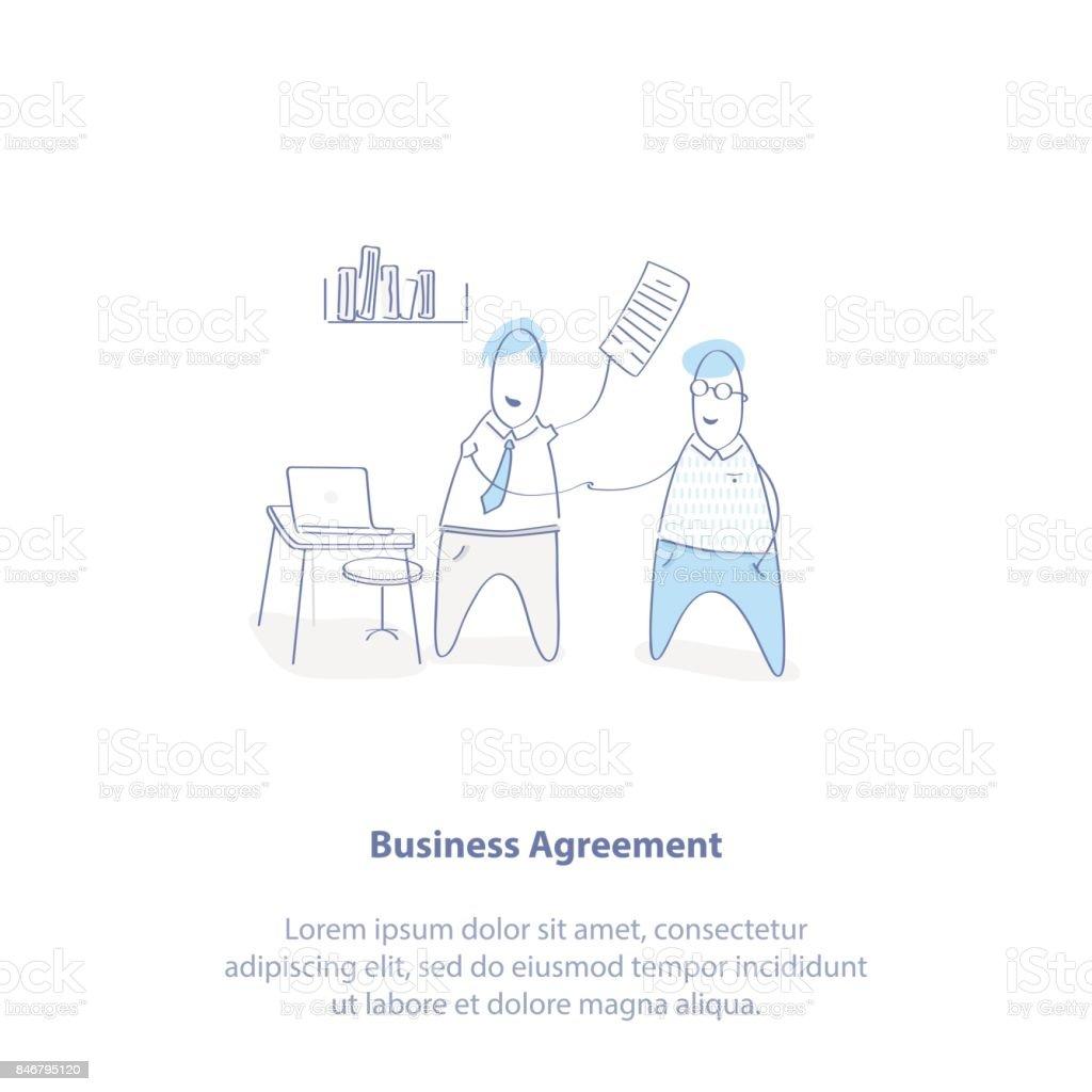Geschäftsvereinbarung Geschäftliche Zusammenarbeit Partnerschaft ...