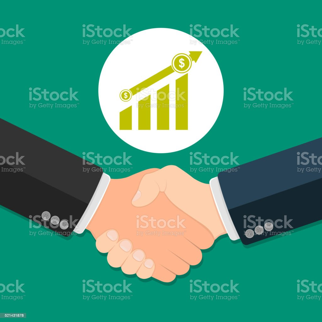 Business agreement concept vector art illustration