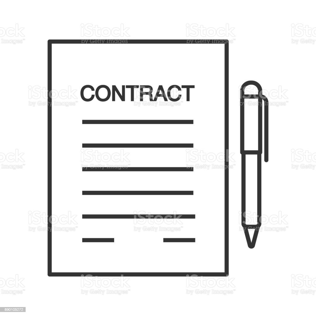 Geschäftsvereinbarung Vertragsymbol Stock Vektor Art und mehr Bilder ...