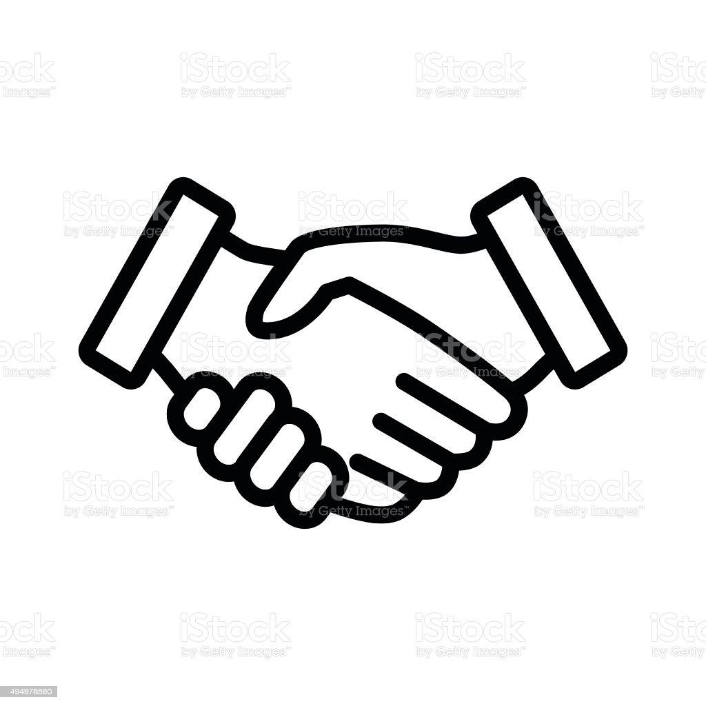 Business Vertrag Hände Schütteln Line Art Symbol Für Anwendungen Und ...