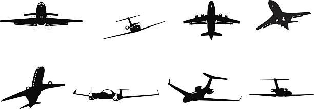 business aircraft vector art illustration