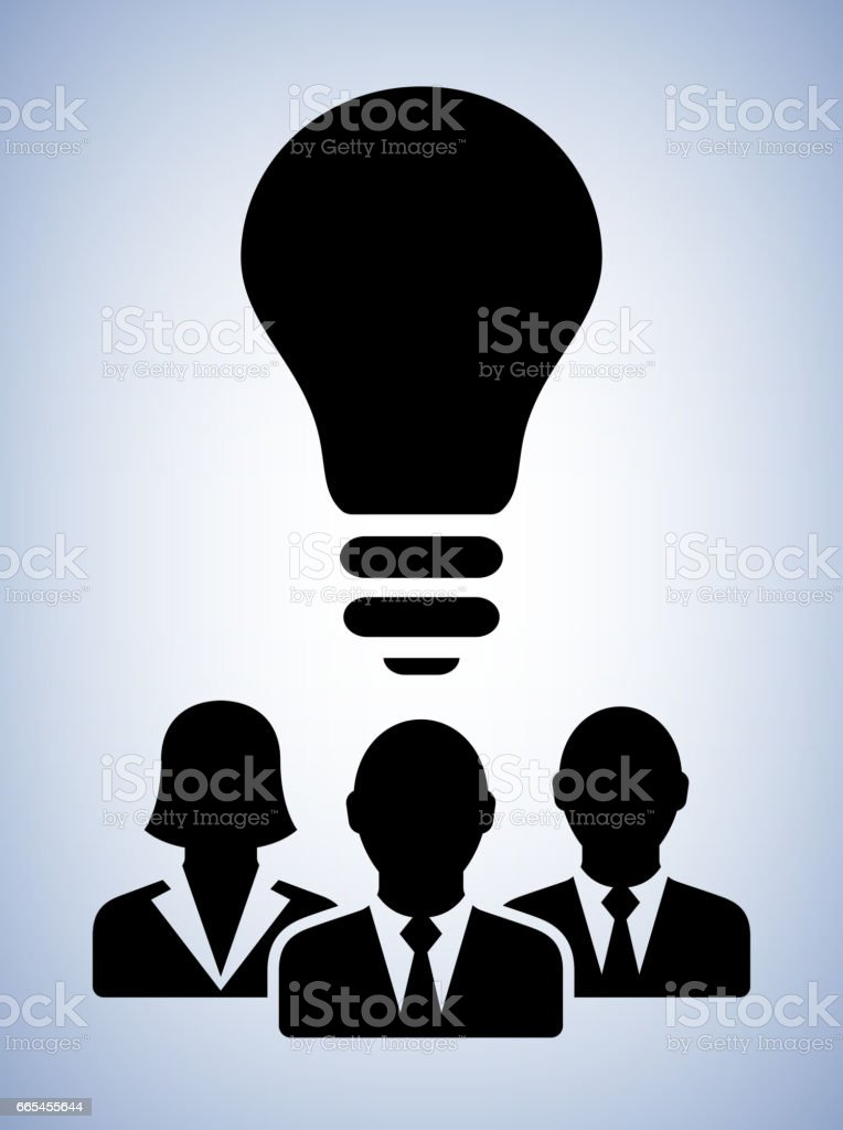 Business Allies Light bulb Conceptual Vector Illustration vector art illustration