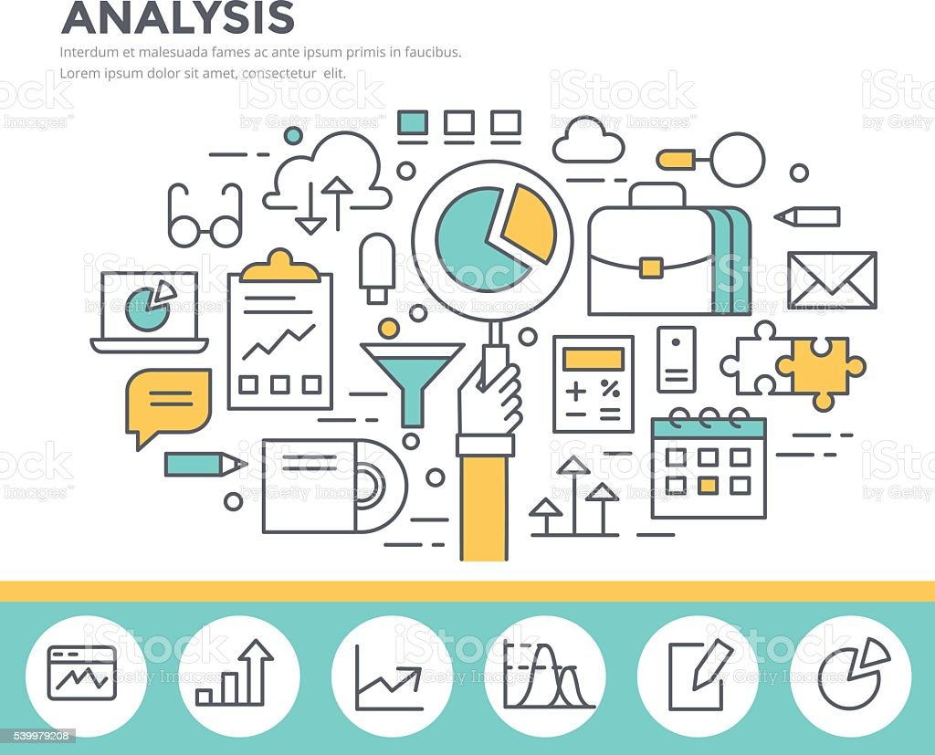 Business analysis concept illustration vector art illustration