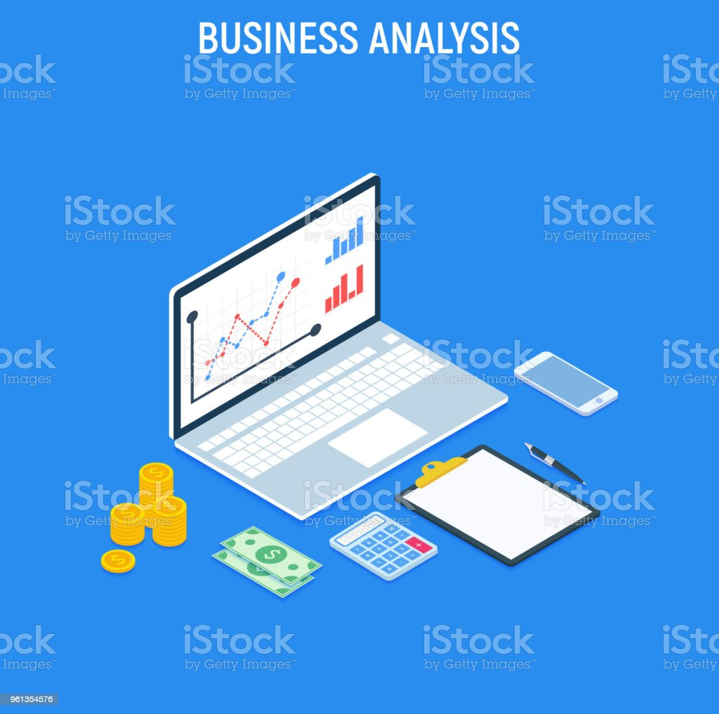 Business Analysis Concept Strategy Data And Investment ...
