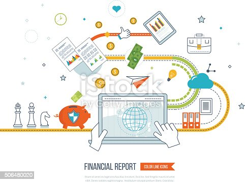 655652514 istock photo Business analysis, financial report and strategy. 506480020