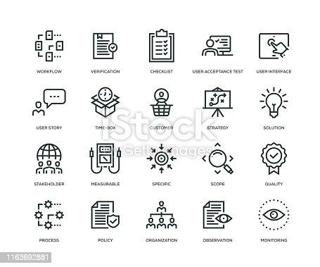 Business Analysis Icon Set - Line Series