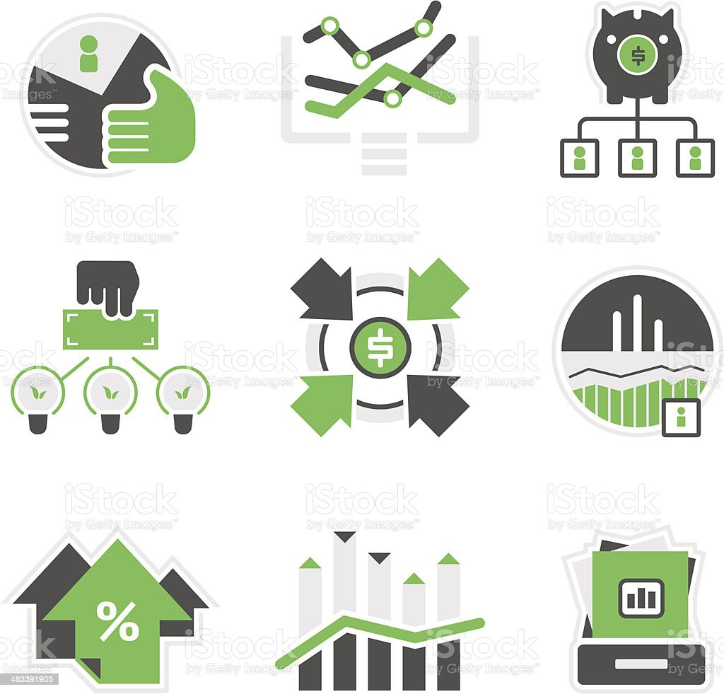 Business analysis icons vector art illustration