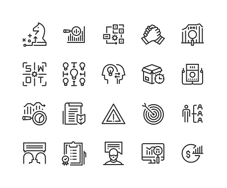 Business, Analysis, Strategy, Strategy, Collaboration Icon Design