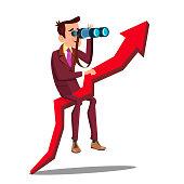 Business Analyst, Businessman, Marketer Vector Cartoon Character