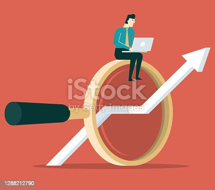 Business analytic charts illustration