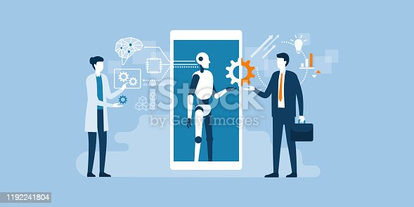 istock Business and AI technology 1192241804