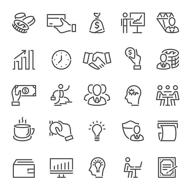 ilustraciones, imágenes clip art, dibujos animados e iconos de stock de business and banking icons - lentes contacto