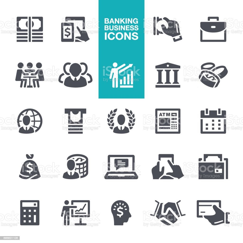 Business and Banking  icons vector art illustration