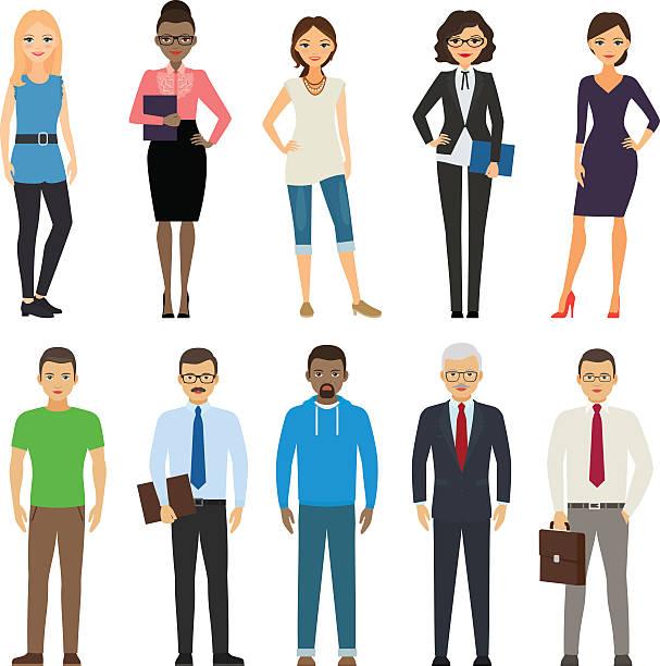 ilustraciones, imágenes clip art, dibujos animados e iconos de stock de los huéspedes de negocios o informal - hombre profesional