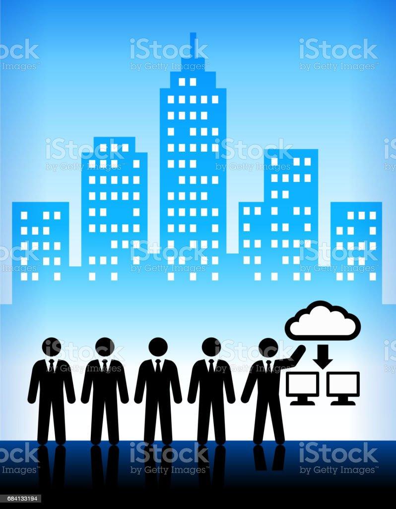 Affärs- och Cloud Computing teknik staden bakgrund royaltyfri affärs och cloud computing teknik staden bakgrund-vektorgrafik och fler bilder på affärsman