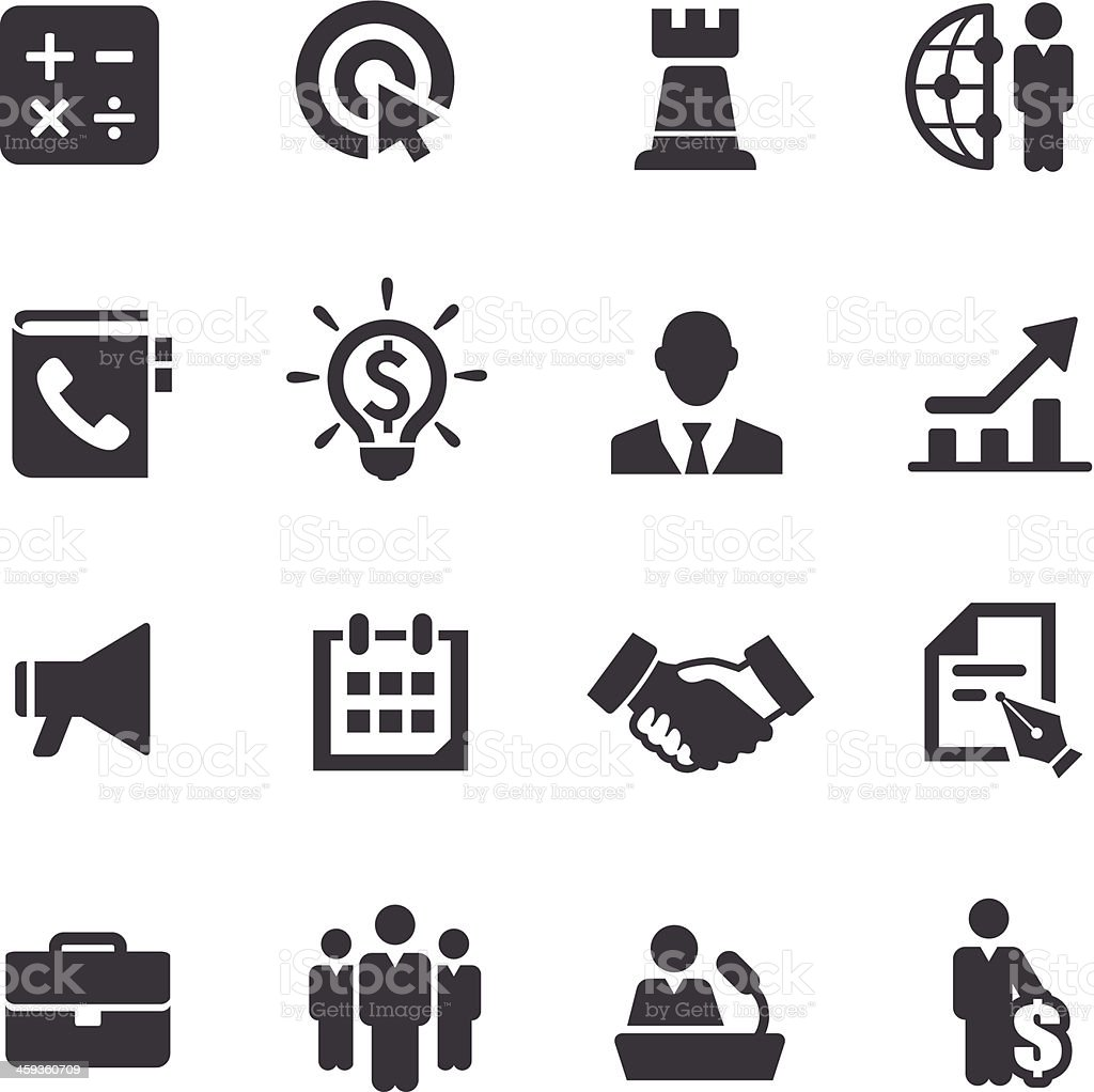 Iconos de negocios y el comercio de Acme serie - ilustración de arte vectorial