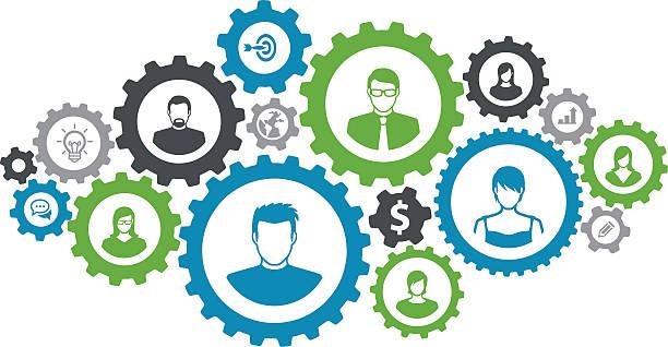 biznes i komunikacja koncepcja - oś czasu pomoc wizualna stock illustrations