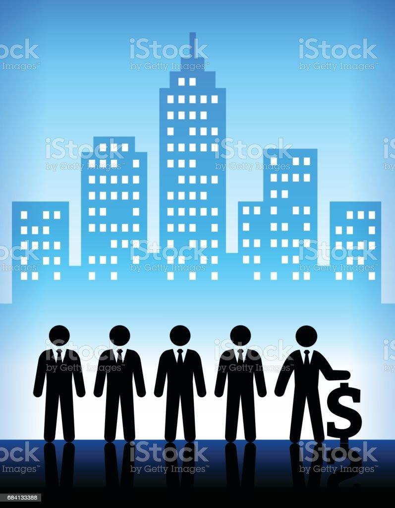 Business and Corporate Profit Modern City Background business and corporate profit modern city background - immagini vettoriali stock e altre immagini di adulto royalty-free