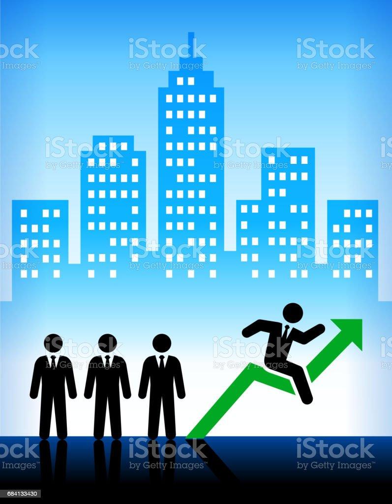 Företag och företagens framsteg staden bakgrund royaltyfri företag och företagens framsteg staden bakgrund-vektorgrafik och fler bilder på affärsman