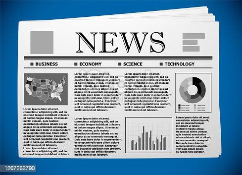 USA business and economy on newspaper.