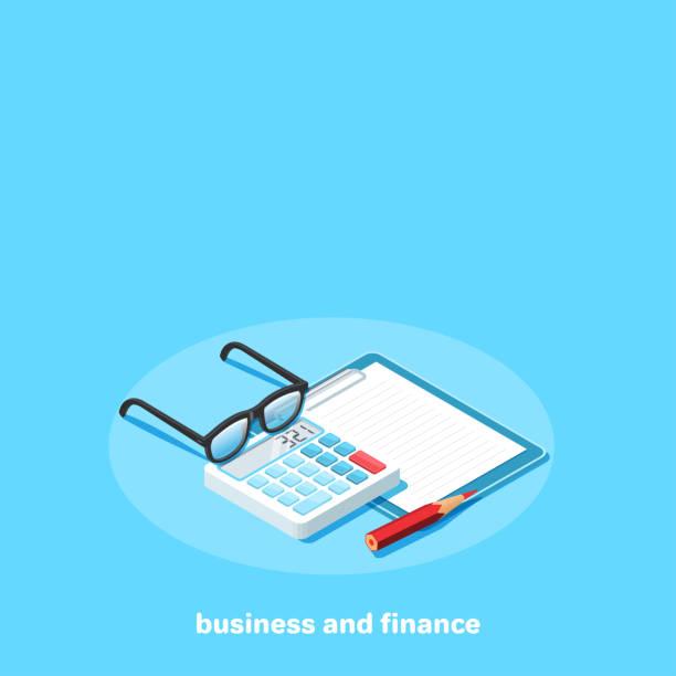 illustrazioni stock, clip art, cartoni animati e icone di tendenza di business and finance 6 - calcolatrice