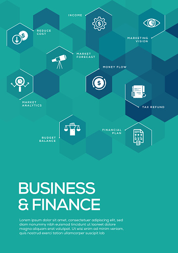 Business and Finance. Brochure Template Layout, Cover Design