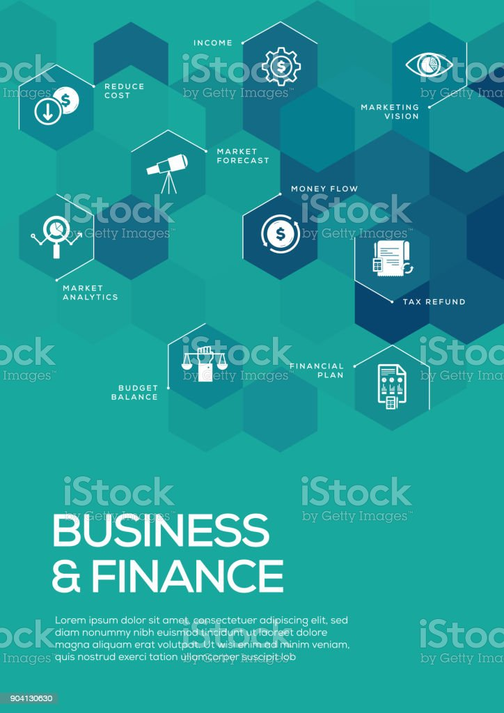 Business and Finance. Brochure Template Layout, Cover Design vector art illustration