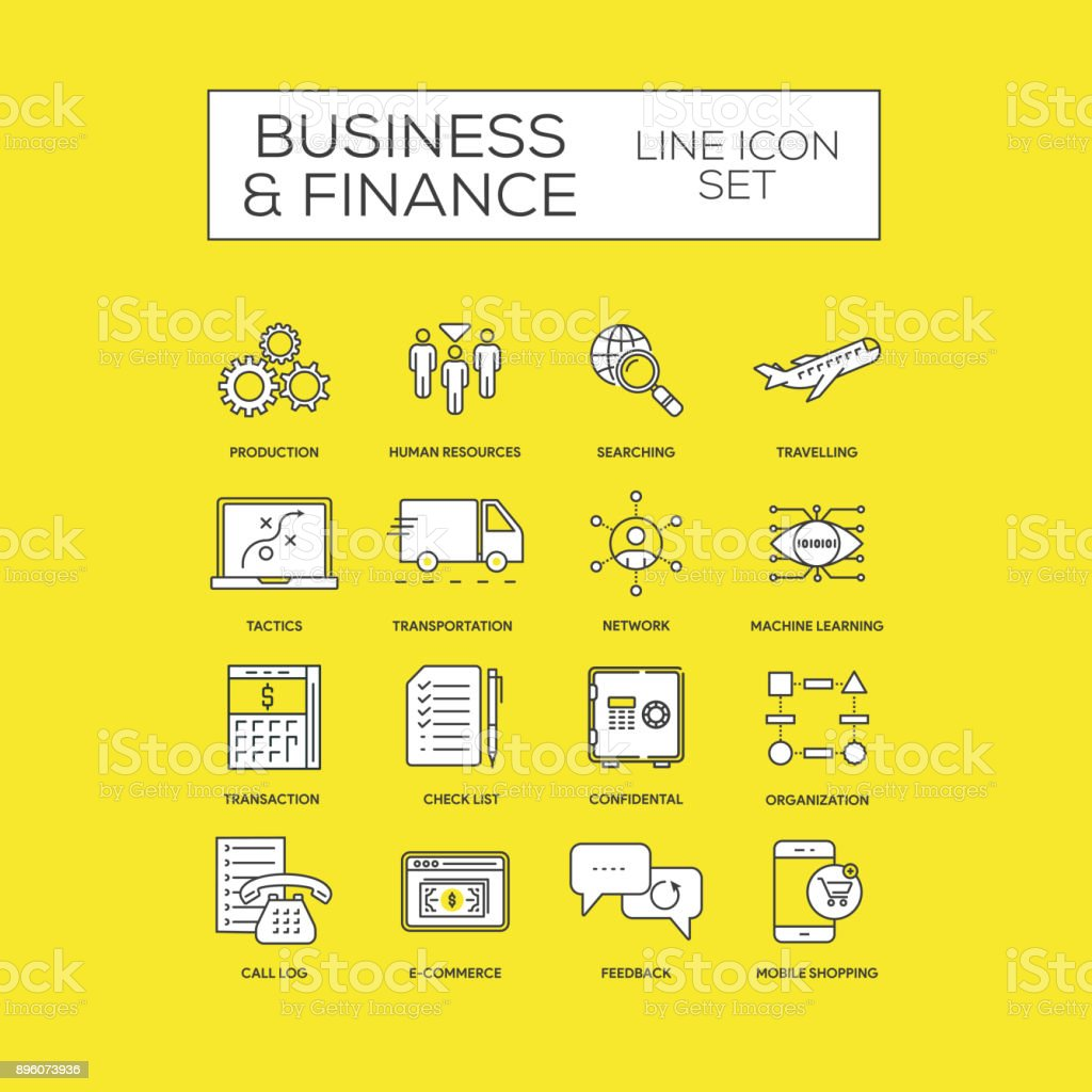 Business And Finance Concept vector art illustration