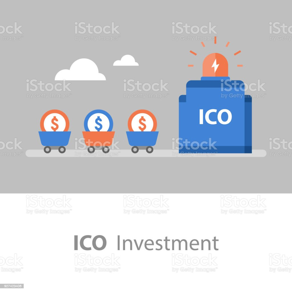 Business And Finance Ico Investment Cryptocurrency Token Stock