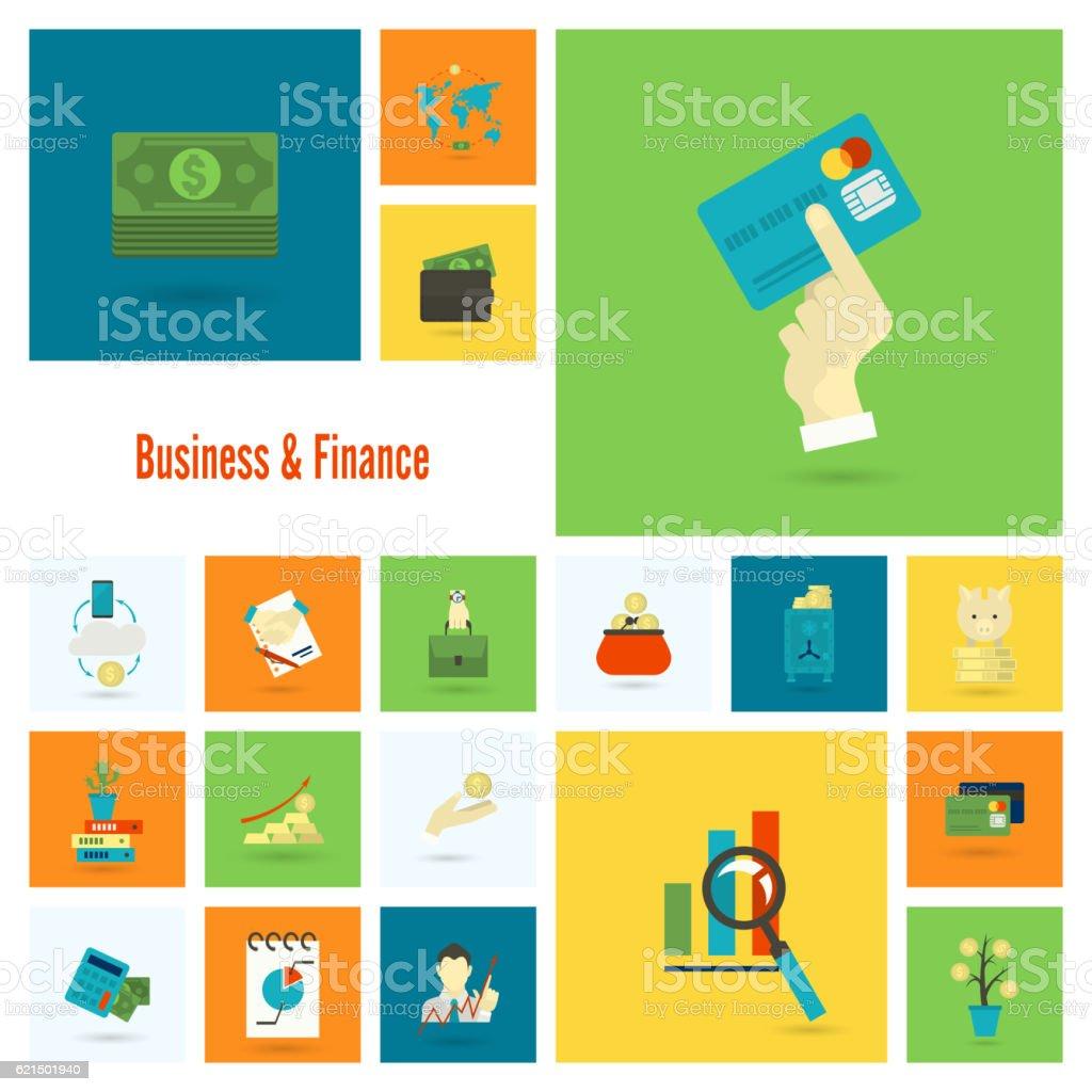 Affaires et finances icône Set affaires et finances icône set – cliparts vectoriels et plus d'images de accord - concepts libre de droits