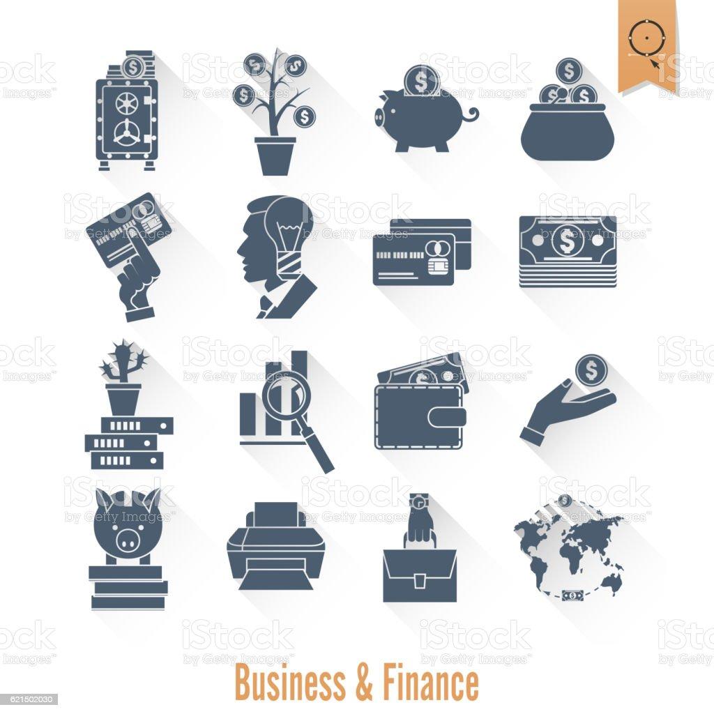 Set di icone di affari e finanza set di icone di affari e finanza - immagini vettoriali stock e altre immagini di accordo d'intesa royalty-free
