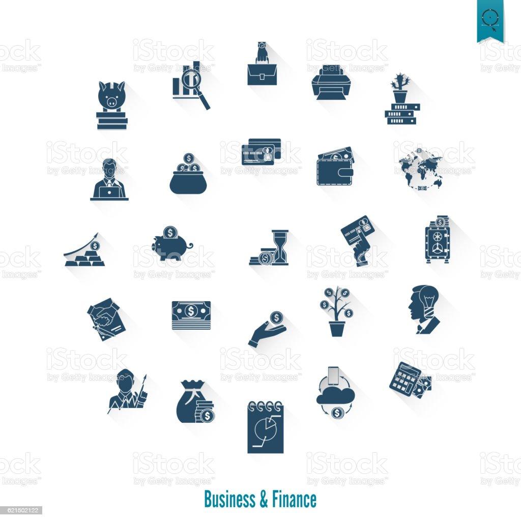 Business und Finanzen Symbol Set Lizenzfreies business und finanzen symbol set stock vektor art und mehr bilder von abmachung