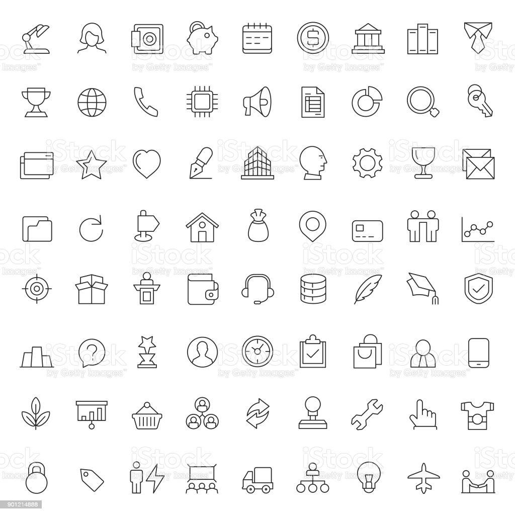 Affaires et finances icône set - Illustration vectorielle