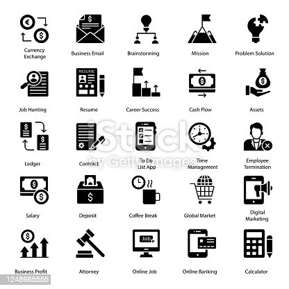 We are offering corporate and finance icons for your ease. Editable quality of this set makes it different and useful for everyone. A convenient set akin to the corporate field is in your reach now.
