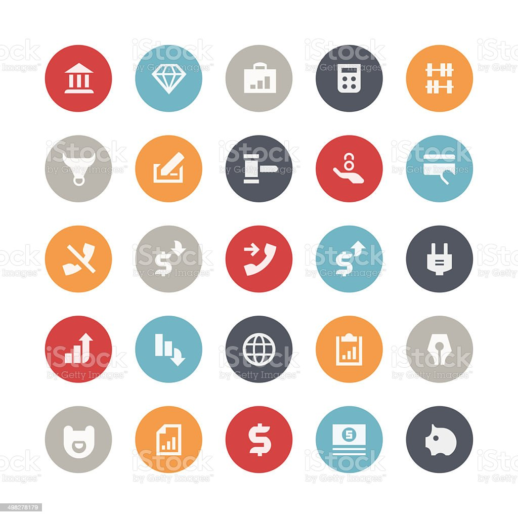 Business and finance icons | Orbis series vector art illustration