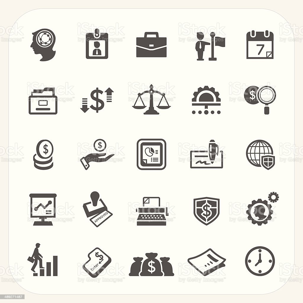 Business and finance icons set Business and finance icons set, EPS10, Don't use transparency. Adult stock vector